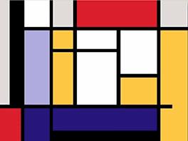 cuadro abstracto mm mondrian