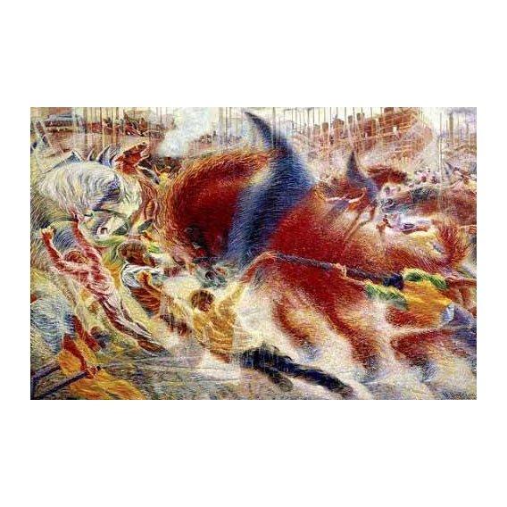 cuadros abstractos - Cuadro -La ciudad se levanta-