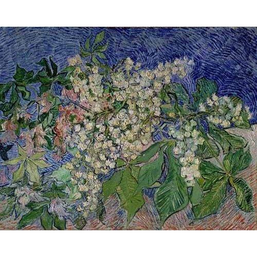 cuadros de paisajes - Cuadro -Ramas de castaño en flor-