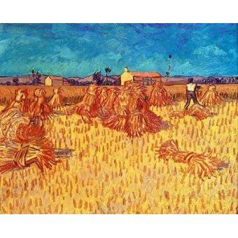 - Cuadro -Campo de cereales con gravillas- - Van Gogh, Vincent