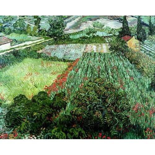 cuadros de paisajes - Cuadro -Field with poppies, 1889-