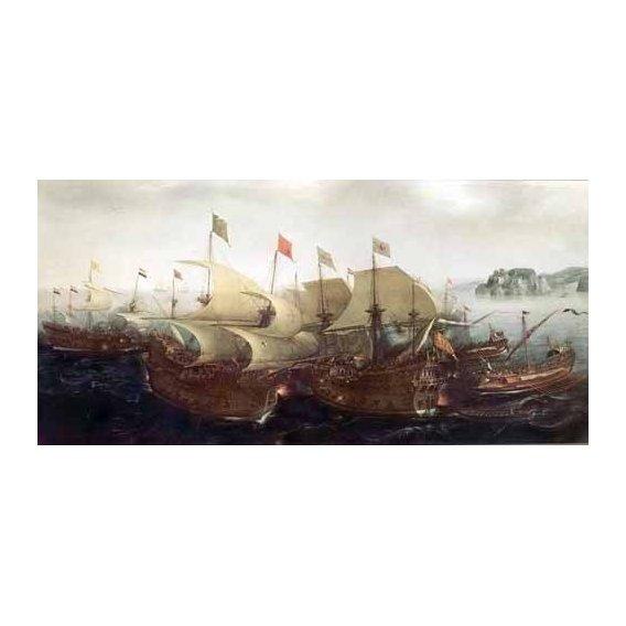 cuadros de marinas - Cuadro -Batalla Naval-