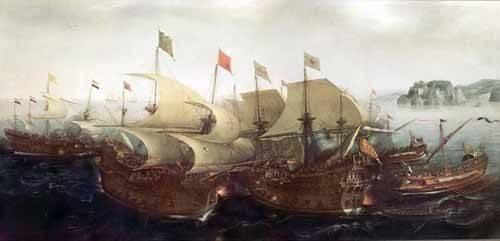 cuadros-de-marinas - Cuadro -Batalla Naval- - Vroom, Hendrick