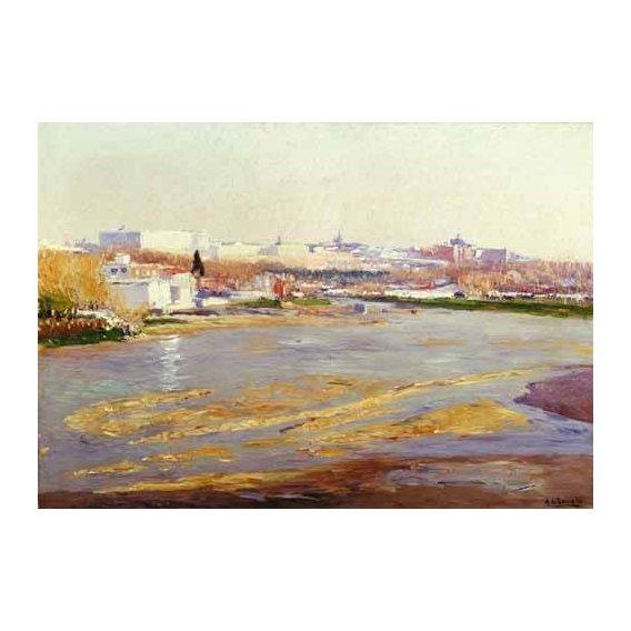 cuadros de paisajes - Cuadro -Orillas del Manzanares - Madrid-