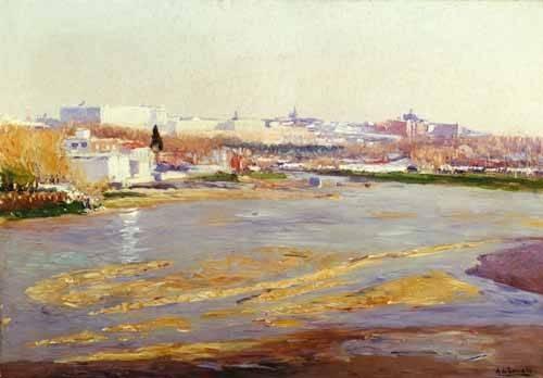 cuadros-de-paisajes - Cuadro -Orillas del Manzanares - Madrid- - Beruete, Aureliano de