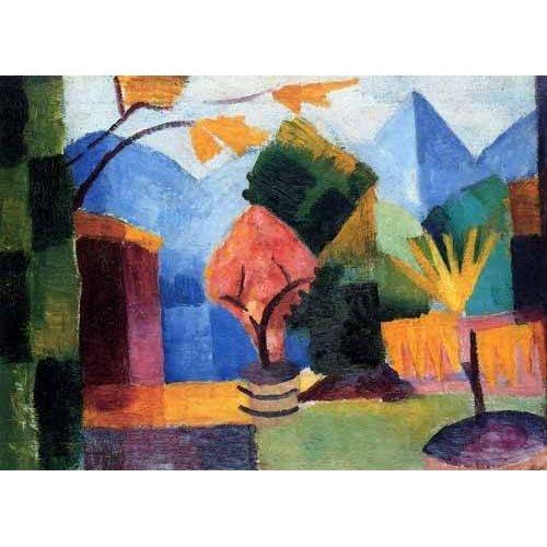 cuadros abstractos - Cuadro -Jardin en Lago Thuner-
