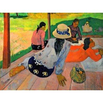 - Cuadro -La siesta- - Gauguin, Paul