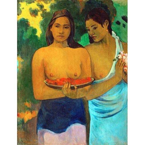 cuadros de retrato - Cuadro -Señoras tahitianas II-