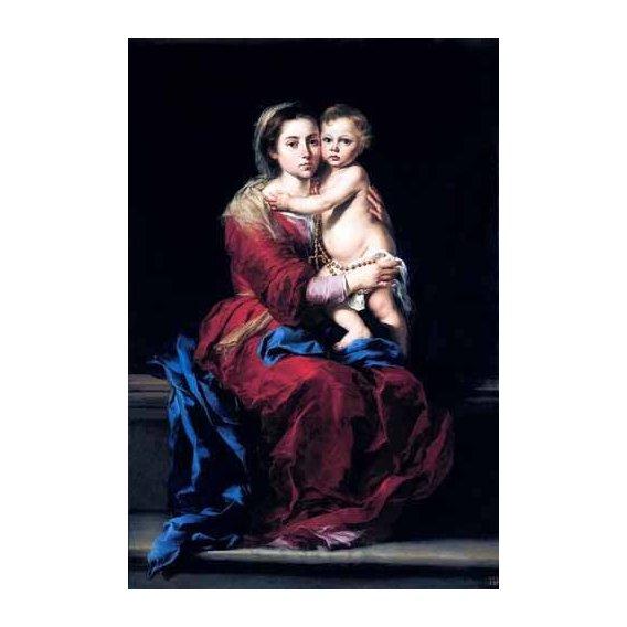 cuadros religiosos - Cuadro -La Virgen del Rosario-