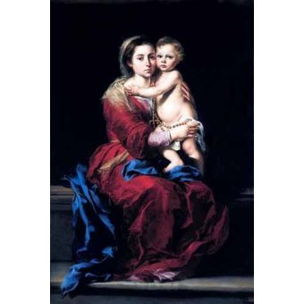 - Cuadro -La Virgen del Rosario- - Murillo, Bartolome Esteban