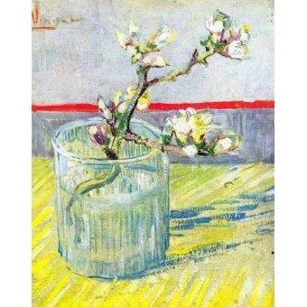 cuadros de flores - Cuadro -Rama de almendro en flor, en vaso de cristal- - Van Gogh, Vincent