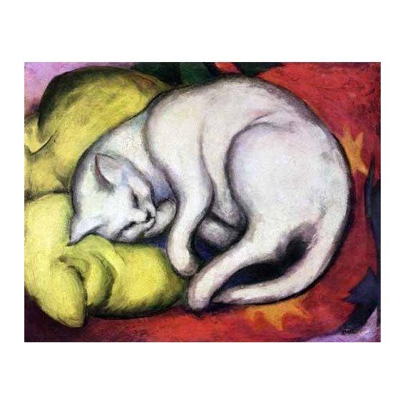 cuadros de fauna - Cuadro -Tomcat sobre cojin amarillo-