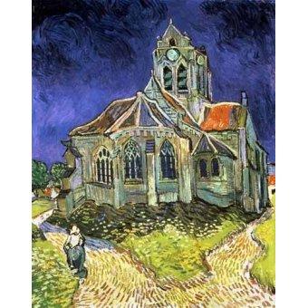 - Cuadro -La iglesia de Auvers-sur-Oise- - Van Gogh, Vincent