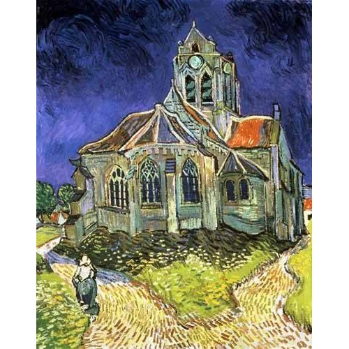 cuadros de paisajes - Cuadro -La iglesia de Auvers-sur-Oise-