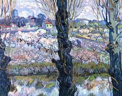 cuadros-de-paisajes - Cuadro -Vista de Arles- - Van Gogh, Vincent