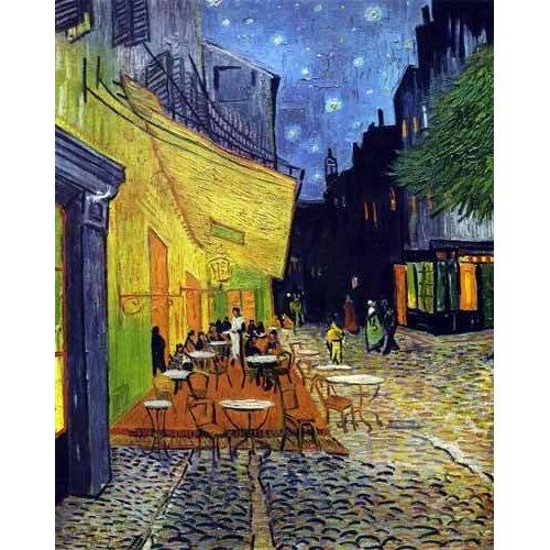 cuadros de paisajes - Cuadro -Cafe Terrace Place du Forum Arles-