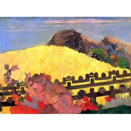 cuadros de paisajes - Cuadro -Parahi te marae (El templo está allí)-