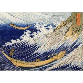 - Cuadro -Olas en el oceano- - Hokusai, Katsushika