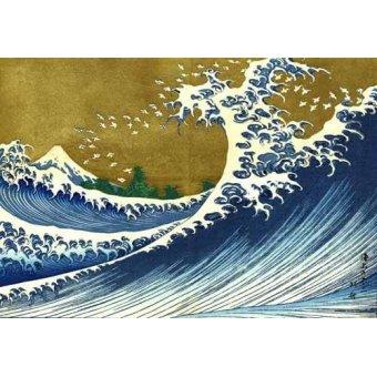 - Cuadro -Gran ola- - Hokusai, Katsushika