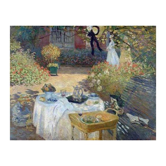 cuadros de paisajes - Cuadro -Desayuno en el jardin de Monet-