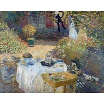 - Cuadro -Desayuno en el jardin de Monet- - Monet, Claude