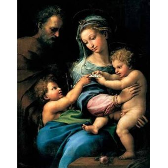 - Cuadro -La Virgen de la Rosa- - Rafael, Sanzio da Urbino Raffael