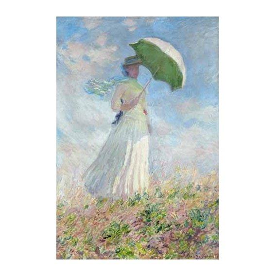 cuadros de retrato - Cuadro -Estudio de figura al aire libre, mujer con sombrero-
