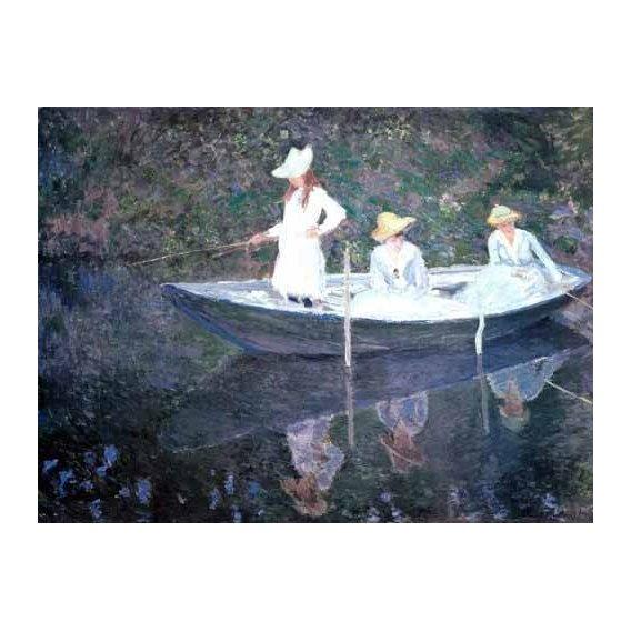 cuadros de retrato - Cuadro -In The Norvegienne Boat At Giverny 1887-