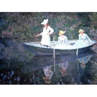 - Cuadro -In The Norvegienne Boat At Giverny 1887- - Monet, Claude
