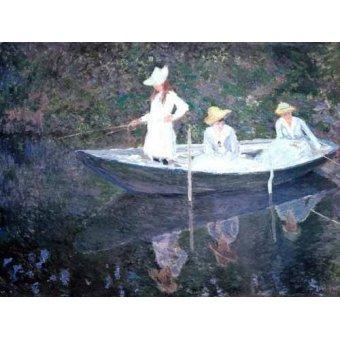 cuadros de retrato - Cuadro -In The Norvegienne Boat At Giverny 1887- - Monet, Claude