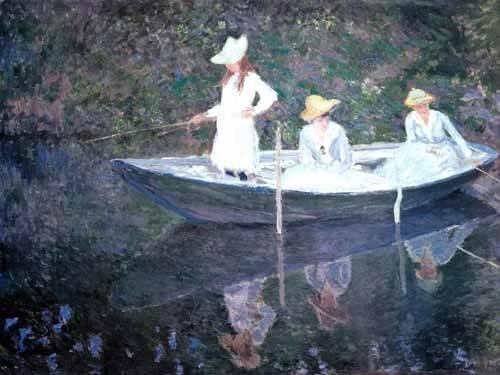 cuadros-de-retrato - Cuadro -In The Norvegienne Boat At Giverny 1887- - Monet, Claude