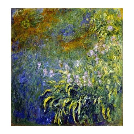 cuadros de flores - Cuadro -Lirios junto al estanque-