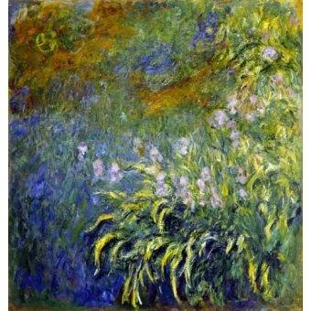 - Cuadro -Lirios junto al estanque- - Monet, Claude
