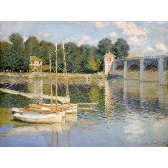 - Cuadro -Puente de Argenteuil- - Monet, Claude