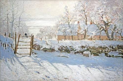 cuadros-de-paisajes - Cuadro -La urraca- - Monet, Claude