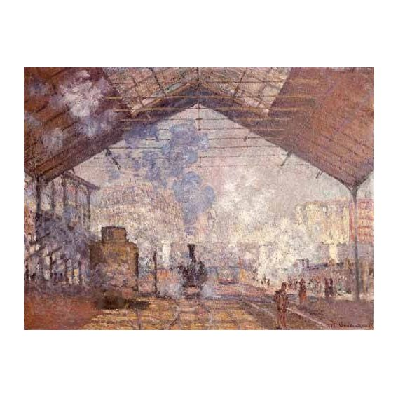 cuadros de paisajes - Cuadro -La estacion de Saint Lazare, 1877-