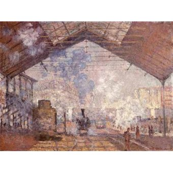 Cuadro -La estacion de Saint Lazare, 1877- - Monet, Claude