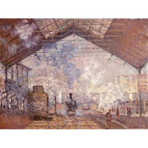 Cuadro -La estacion de Saint Lazare, 1877-