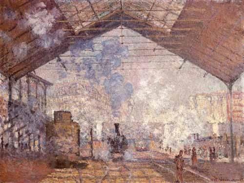 cuadros-de-paisajes - Cuadro -La estacion de Saint Lazare, 1877- - Monet, Claude