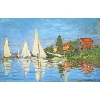 Hall - Cuadro -La regata en Argenteuil- - Monet, Claude