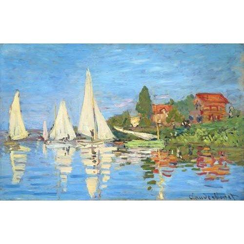 cuadros de marinas - Cuadro -La regata en Argenteuil-