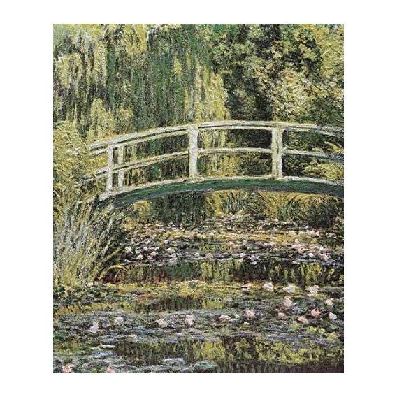 cuadros de paisajes - Cuadro -Nenúfares y puente japones-