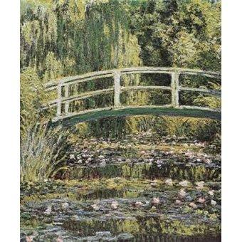 Cuadro -Nenúfares y puente japones- - Monet, Claude