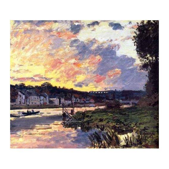 cuadros de paisajes - Cuadro -El Sena en Bougival, en la tarde-