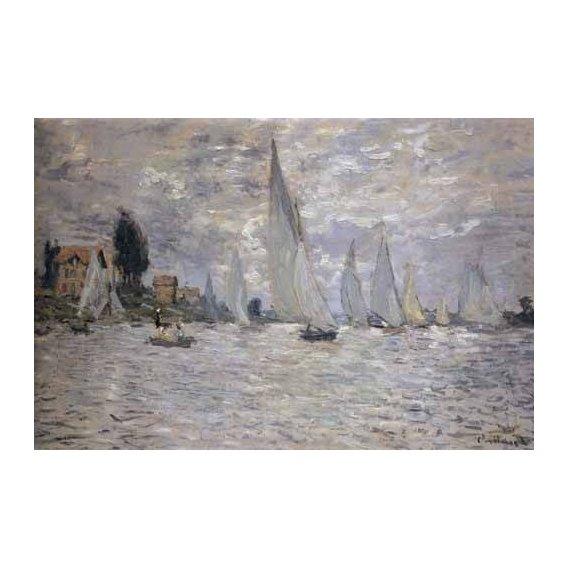 cuadros de marinas - Cuadro -Regatas en Argenteuil-