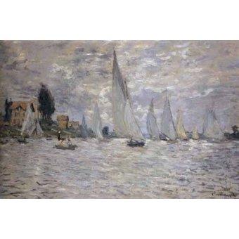cuadros de marinas - Cuadro -Regatas en Argenteuil- - Monet, Claude