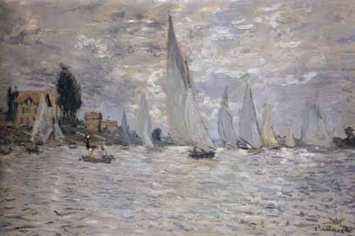 cuadros-de-marinas - Cuadro -Regatas en Argenteuil- - Monet, Claude