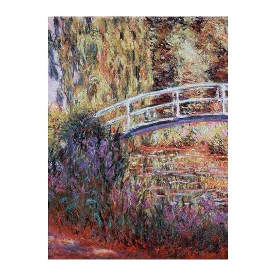 cuadros de paisajes - Cuadro -El puente japones, estanque de nenúfares y lirios-