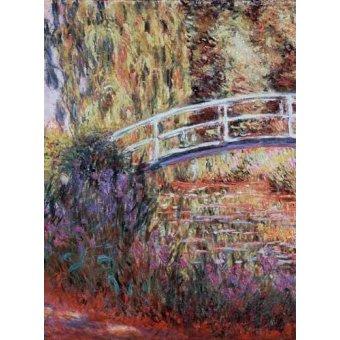 - Cuadro -El puente japones, estanque de nenúfares y lirios- - Monet, Claude