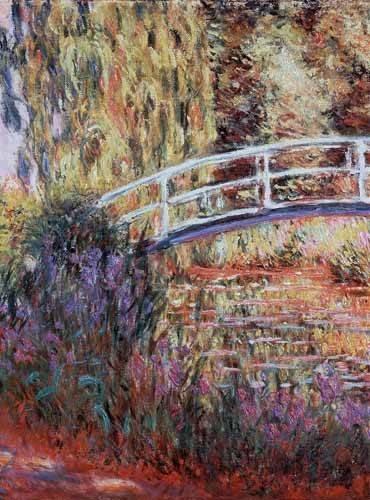 cuadros-de-paisajes - Cuadro -El puente japones, estanque de nenúfares y lirios- - Monet, Claude
